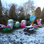 Daylight snow at the Magical Lantern Festival in Kings Heath Park - Angry Birds or Rio? thumbnail