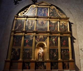 Retaula de la Mare de Déu del Roser, s. XVI, Art del Renaixement.  Monestir de Sant Cugat, Barcelona.
