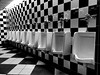 nature calls (brown_theo) Tags: patterns urinals tiles black white tile