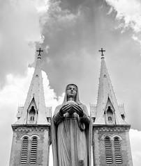 Squeeze in (ajecaldwell11) Tags: caldwell church saigon light statue ankh vietnam buildings hochiminh sky cross notredame xe2 fujifilm clouds