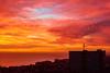 West over Brighton and Hove (michaelasss) Tags: brighton hove england sussex sunset twilight seaside sundown pier beach orange light i360 starlings birds tower block building southern