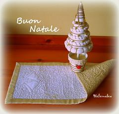 Centrino natalizio (Helenadea) Tags: natale patchwork quilting quilt sewing cucito trapunto christmas handmade craft decor campana