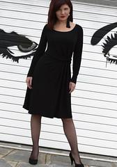 Total black look (Stylati Fashion Designer Clothing) Tags: black fashion look designer dress moda lady clothinng