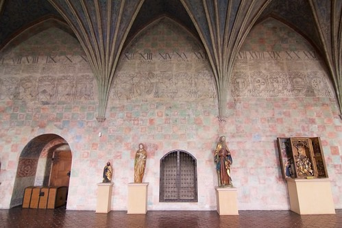 Zachodnia ściana Wielkiego Refektarza w zamku biskupim w Lidzbarku Warmińskim
