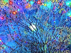 Holiday Lights (flynryon) Tags: flynryon texture canvas flickr fingerpaintedit iamda paintbookca mobile art scumble mike ryon ipainter landscapes portraits figures mashablecom iphone digital paintings kansas lawrence christmas eve