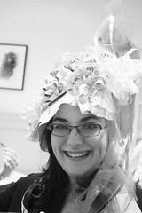 The bride of honor 👰😀 (Eileen Marie Art & Photography) Tags: digitalphotography portraitphotography closeup abestfriend sororitybig portrait textures tones blackandwhitephotography blackandwhitephoto blackandwhite snapshot candidshot smiling wrappingpaper bride