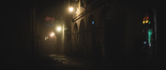 Night lights (LaClaveFilms) Tags: a7s sonyalpha lugo lowligth mood cinematic canon fd light calles street navidad cinemascope