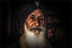Suspicion (felixvancakenberghe) Tags: india man beard people asia asian