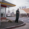 (patrickjoust) Tags: mamiya c330 s sekor 80mm f28 fuji 160 npc tlr twin lens reflex 120 6x6 medium format c41 color negative discontinued expired film manual focus analog mechanical patrick joust patrickjoust hampden baltimore maryland md usa us united states north america estados unidos urban street city people person man standing mcdonalds restaurant