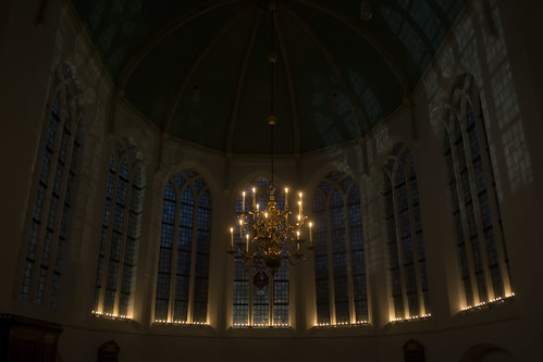 Church in candelight