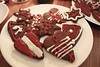 Festive gingerbread cookies (Anna Karolina Ozola) Tags: gingerbread cookies christmas holidays latvia candle candlelit yummy treats glaze white red brown plates festive fire tasty warm christmaseve fuzzy decermber winter
