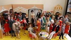 A busy day at the Fashion Shop (ModBarbieLover) Tags: 1963 1964 ponytail vintage barbie fashion doll ken ricky skipper shop boutique feud mac quayle elegance brocade midge mattel allan