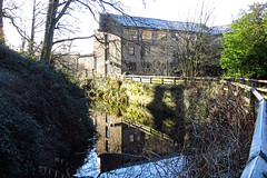 Reflections of an Industrial Age (Sue Baker 24/7) Tags: mill reflection yorkshire skipton water