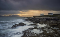 Storm Point (Captain Nikon) Tags: penmonpoint anglesey northwales promontory snowdonia moody stormy sunrise cottages longexposure landscapephotography wales greatbritain uk landscapes seascape