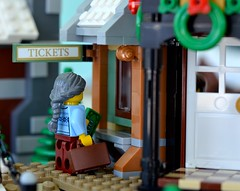 At the Train Station (linda_lou2) Tags: 365the2018edition 3652018 day2365 02jan18 odc beginningsandendings 2365 365toyproject 118picturesin2018 themeno107 atthestation lego toy minifigure minifig wintervillagestation