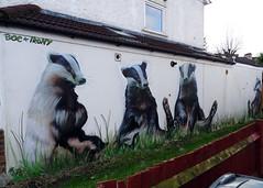 London_01015 (markstravelphotos) Tags: london streetart penge graffiti boe irony badger