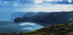 Blue Cliffs- Hillary Trail, New Zealand (Flortography) Tags: outdoors newzealand hill hillside mountain sky clouds weather land landscape landmark nature natura wilderness winter foto fotografia professionalphotography professional piha