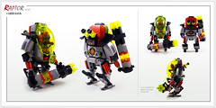 Raptor series: U.F.O. (Brixnspace) Tags: raptor walker frame powersuit suit lego moc toy biped space bot ufo alien classic goo abduction abductor3000
