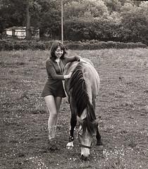 Town & Country, 1970 (jonathan charles photo) Tags: blackandwhite 1970 minidress country tunbridgewells pony fashion beauty art photo jonathan charles bw