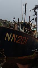 A Fave Subject in a Fave Place of Mine - 2 (catchesthelight) Tags: colorful workingboats seaside eastsussex hastingsuk travel boats maritimeshore rust peelingpaint fishingboats hastingsengland englishchannel shingle