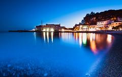 PETROVAC BY NIGHT MONTENEGRO (Sam Bdn photography) Tags: petrovac montenegro longexposure longexposition nikon d5600 poselongue tokina 1116 bluehour night port beach ocean summer reflection adriatic azur