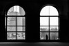 Looking outside, longingly (dharder9475) Tags: 2017 chicagoculturalcenter dark frombehind highcontrast lookingoutside millenniumpark pensive privpublic silhouette streetphotography windows woman
