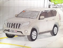 Toyota Land Cruiser Prado (Before Facelift) (justjolliciousjoshg) Tags: philippines drawing art suv prado landcruiser landcruiserprado toyotalandcruiserprado toyotalandcruiser toyota