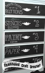 My chalkboard art dresser has become a craft supply storage solution! The hand lettering on each drawer tells me which craft supply is in that drawer making things easier to find. Since it is written in chalk, I can erase and rewrite the labels when I mov (Home Decor and Fashion) Tags: … 2011 around art become can chalk chalkboard craft did drawer dresser each easier erase find hand has i is it items labels lettering making me move rewrite september since solution storage supply tells that things when which written
