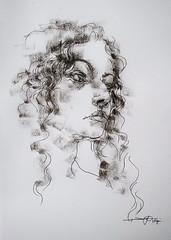 P1017461 - Copy (Gasheh) Tags: art painting drawing sketch portrait line pen pastel girl gasheh 2017