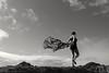 The wind... (Yaoluca) Tags: woman sea ocean wind sky clouds emotion atmosfera mood feeling blackandwhite bnw