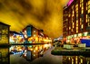 Canal Wharf HDR (tubblesnap) Tags: low light fuji xs1 lightroom night leeds reflection hdr canal wharf wharfe granary holbeck wet doubletree hilton livin italy reflections colourful dramatic sky high dynamic range tonemapped