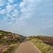 Fahrradweg durch die Heide Sylt