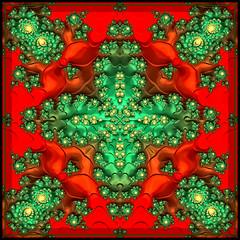 Christmas Abstract (LotusMoon Photography) Tags: abstract xmas christmas festive digital red green annasheradon lotusmoonphotography
