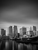 Docklands (Andrew Paul Watson) Tags: london canarywharf skyscapers blackandwhite longexposure docks docklands hsbc england fujifilm xt1 14mm nisifilters landscape urbanscape urban thames boat crane