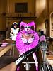 HOT PINK HARLEKIN (bigbertha666) Tags: doll mask corset fetish maskedface maid sissy poser spielzeug sextoys ringgage lack plastic pvc rubber bondage gloves fetishfashion