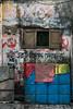 Kalighat, quartier des fabricants d'idôles, Calcutta,  Bengale occidental, Inde (Pascale Jaquet & Olivier Noaillon) Tags: politique graffiti scènederue calcutta bengaleoccidental inde ind