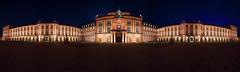 Schloss Mannheim - Panorama (FH | Photography) Tags: mannheim schloss residenzschloss panorama pano nachts abends gebäude architektur historisch wahrzeichen sehenswürdigkeit fassade residenz barock geschichte palast badenwürttemberg stadt ehrenhof