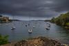Dark Days (edzwa) Tags: cremornepoint newsouthwales australia au boats water harbor sydneyharbour dark clouds sundaylights