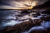Water Slide (Augmented Reality Images (Getty Contributor)) Tags: longexposure waves beach landscape leefilters scotland cliffs water seascape coastline morayfirth canon cullen clouds rocks portknockie unitedkingdom gb