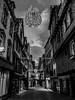 Rue désertée du 1er janvier. Morlaix, janv 2018 (Bernard Pichon) Tags: morlaix bretagne france fr bpi760 rue pavée bzh breizh fr29 finistère
