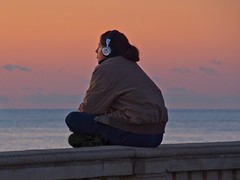 Mindfulness (Steve Brewer Photos) Tags: viareggio italy mindfulness meditation relaxed calm tranquil zen coast sunset