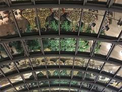 Lichtertunnel (Sockenhummel) Tags: dach dekoration weihnachten beleuchtung spiegelung reflektion reflection struktur architektur architecture boulevard berlin einkaufzentrum glasdach appleiphone6s
