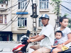 Hanoi family. Vietnam. (dagboshoots) Tags: family bike hanoi vietnam ride child parents danger travel worktravel dagboshoots dagbo