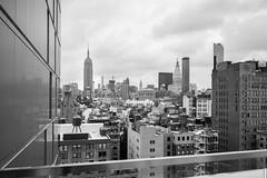 Skyline from 35XV (FourteenSixty) Tags: newyork empirestatebuilding nyc manhattan monochrome blackandwhite 35xv flatirondistrict chryslerbuilding metlifeclocktower metlifetower
