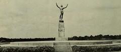 Allerton Park Sun Singer Statue, Monticello, IL 1951 (RLWisegarver) Tags: piatt county history monticello illinois usa il
