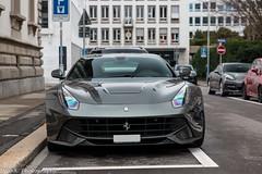 Ferrari F12berlinetta (Nico K. Photography) Tags: ferrari f12berlinetta supercars nicokphotography silver switzerland zürich