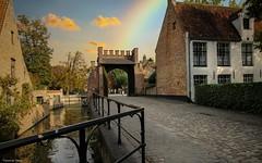 Bruges Fence Friday - 4211 (YᗩSᗰIᘉᗴ HᗴᘉS +10 000 000 thx❀) Tags: rainbow hff fence fences happyfencefriday road water river bruges flandres belgium belgique bel be aa fr eu hensyasmine yasminehens