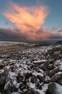 Snow Storm Approaching Belstone