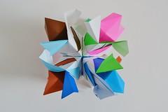 Jester's Cap Octahedron (Byriah Loper) (Byriah Loper) Tags: origami origamimodular modularorigami modular paperfolding paper polygon polyhedron byriahloper byriah kusudama