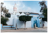 Moulay Ali Ben Rashid Mosque, Chefchaouen, Morocco (Bigmob Dontwannastop) Tags: chefchaouen morocco moroccan city town religion islam mosque tempe minaret tower people africa blue wall passenger
